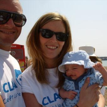 A family at CLAPA's Brighton Sponsored Walk in 2014