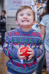 Excited Child, South London & Surrey 2014 Christmas Party