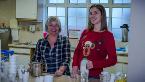 Making tea at the 2014 Christmas Party South London & Surrey Branch