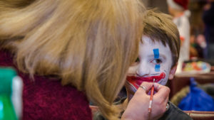 Face painting at Christmas 2014 South London & Surrey