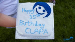 CLAPA 2014 Bocketts Farm CLAPA birthday cake