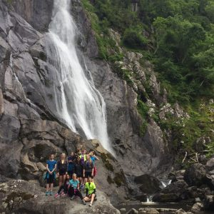 Lunch at Aber Falls - Queen's School Cyclists