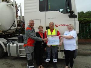 Veolia presenting £2695 with employee Sally Pratt v2
