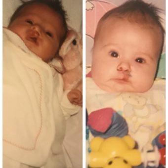 Georgina as a baby