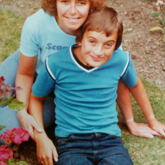 Paul (aged 10) and his Mum in 1980