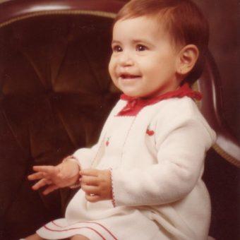 Sabrina as a baby, after surgery